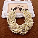 billige Perlekjeder-Dame Som På Bildet Perler Perlehalskjede - Imitert Perle Krystall 35-45 cm Halskjeder Smykker 1pc Til Fest, jubileum, Gave