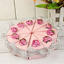 cheap Artificial Flower-Pyramid Pearl Paper Favor Holder with Ribbons Flower Favor Boxes - 10