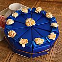 Χαμηλού Κόστους Κουτιά Τούρτας-Πυραμίδα Χαρτί Περλέ Εύνοια Κάτοχος με Λουλούδι Κουτιά Μποπονιέρων
