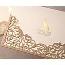 """hesapli Düğün Davetiyeleri-Katlanmış Düğün Davetiyeleri-Davet Kartları Resmi Stil Klasik Stil Damat Tarzı İnci Kağıdı 6 ½""""×4 ½"""" (16.6*11.5cm)"""
