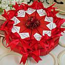 hesapli Pasta Kutuları-Dörtgen Kart Kağıdı Favor Tutucu ile Kurdeleler / Çiçekli Hediye Kutuları