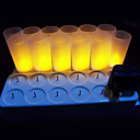 cheap Table Lamps-LED Candle Lights LEDs LED Rechargeable / Decorative 12pcs