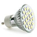 olcso LED okos izzók-1db 3 W 180lm GU10 / E26 / E27 LED szpotlámpák 21 LED gyöngyök SMD 5050 Meleg fehér / Hideg fehér / Természetes fehér 220-240 V