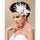 cheap Party Headpieces-Tulle Fascinators / Headwear with Floral 1pc Wedding / Special Occasion Headpiece