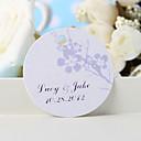 hesapli Çıkartmalar, Etiketler ve Tagler-kişiselleştirilmiş lehçe etiketi - gümüşi erik çiçeği (36 kümesi) düğün iyilikleri