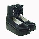 hesapli Zentai-Ayakkabılar Gotik Lolita Lolita Platform Ayakkabılar Solid 7 CM Uyumluluk PU Deri/Poliüretan Deri Poliüretan Deri