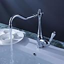 halpa LED-suihkupäät-Kitchen Faucet - Yksi reikä Kromi Bar / Prep Pöytäasennus Perinteinen / Yksi kahva yksi reikä