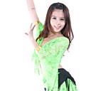 hesapli Lolita Perukları-Göbek Dansı Üstler Kadın's Eğitim Dantelalar Dantel 3/4 Kol Düşük Top