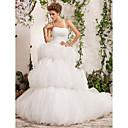 billige Mottakelseskjoler-DEIDRA - kjole til Bryllupskjole i Satin og tulle