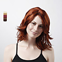 cheap Synthetic Wigs-Synthetic Wig Curly Brown Layered Haircut #25 #114 #131 Synthetic Hair 18 inch Women's Sensor Brown Wig Short Full Lace / Capless
