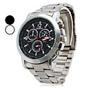 cheap Headsets & Headphones-Men's Wrist Watch Quartz Casual Watch Alloy Band Analog Charm Silver - White Black