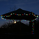 billige Originale lamper-Solar 100-LED fargerike lys Outdoor Fairy Lights juledekorasjon lampe