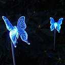 billige Originale lamper-Solar Color Changing Butterfly Style Garden Stake Lys