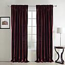 tanie Zasłony okienne-zasłony zasłony Sypialnia Solidne kolory Poliester