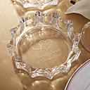 preiswerte Aufkleber, Etiketten und Schilder-personalisierte Doppel dearts Design Glas-Aschenbecher