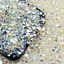 cheap Rhinestone & Decorations-200 pcs Rhinestone / Glitter Shine / 3D Crystal / Rhinestone 3mm Nail Jewelry Rhinestones For Finger Nail nail art Manicure Pedicure Party Evening Chic & Modern / Fashion