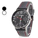 hesapli Elbise Saat-Erkek Bilek Saati Japonca Gündelik Saatler Silikon Bant İhtişam Siyah / SSUO SR626SW