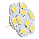 cheap LED Bi-pin Lights-2.5 W 3000 lm G4 LED Bi-pin Lights 9 LED Beads SMD 5630 Warm White 12 V