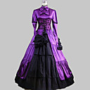 cheap Movie & TV Theme Costumes-Classic Lolita Aristocrat Lolita Satin Party Prom Women's Dress Cosplay Dark Purple Ball Gown Long Sleeve Ankle Length Plus Size Customized Costumes