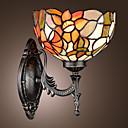 povoljno Zidni svijećnjaci-Tiffany zid svjetlosti s jednog svjetla u cvjetnim uzorkom sjeni