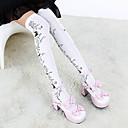 ieftine Șosete-Ciorapi strâmți, lungi Șosete / ciorapi Lolita Stil Gotic lolita lolita Pentru femei Alb Negru Lolita Accesorii Floral Floare Șosete