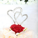 cheap Table Centerpieces-Cake Topper Classic Theme Hearts Wedding Anniversary Bridal Shower With Rhinestone PVC Bag