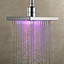 cheap Shower Faucets-Contemporary Rain Shower Chrome Feature - Rainfall LED, Shower Head