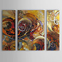 cheap Landscape Paintings-Oil Painting Hand Painted - Abstract Canvas Three Panels