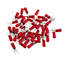 olcso Relék-réz sodronyok villa csatlakozó csatlakozó - piros + ezüst (3 mm / 50 db csomag)