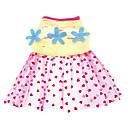 hesapli Saatler-Köpek Elbiseler Köpek Giyimi Kalp Çiçek/Botanik Pembe Terylene Kostüm Evcil hayvanlar için Cosplay