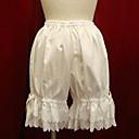 abordables Pelucas Cosplay-Vintage De Encaje Pantalones Blanco Negro Algodón Accesorios de Lolita