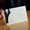 "cheap Wedding Invitations-Side Fold Wedding Invitations 50 - Invitation Cards Pearl Paper 6 ½""×4 ½"" (16.6*11.5cm) Ribbons"