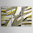 Χαμηλού Κόστους Αξεσουάρ Anime-Ζωγραφισμένα στο χέρι Αφηρημένο Horizontal Καμβάς Hang-ζωγραφισμένα ελαιογραφία Αρχική Διακόσμηση Τρίπτυχα