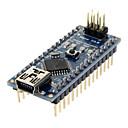 baratos Placas Mãe-Módulo Nano V3.0 AVR ATmega328 P-20AU para Arduino (Preta e Azul)+ Cabo USB