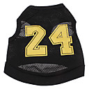 cheap Dog Clothes-Dog Shirt / T-Shirt Jersey Dog Clothes Letter & Number Black Terylene Costume For Pets Men's Women's Cosplay