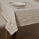 cheap Table Runners-Linen / Cotton Blend Square Table Cloth Floral Eco-friendly Table Decorations