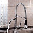 abordables Spray Amovible-Robinet de Cuisine - 1 trou Chrome Montage Moderne Kitchen Taps