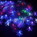 رخيصةأون أضواء تكبر  LED-5m 220v 28 قاد المصابيح rgb سلسلة أضواء عيد الميلاد ندفة الثلج الديكور مصباح سلسلة