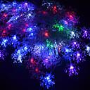 billige LED-stringlys-5m 220v 28 leds rgb streng lys christmas snowflake dekorativ lampe streng