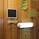 baratos Focos-5 led ao ar livre movido a energia solar painel do jardim caminho da parede galpão cerca cerca de jarda da lâmpada luz beirais cerca quintal luz de trabalho lâmpada