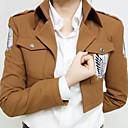 abordables Déguisements de Manga-Inspiré par L'Attaque des Titans Eren Jager Manga Costumes de Cosplay Cosplay Hauts / Bas Imprimé Manches Longues Manteau Pour Homme