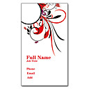 preiswerte Customized Karten-200pcs Personalisierte 2 Seiten gedruckt Mattfilm Vertical Blumenstrauß Muster-Visitenkarte