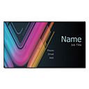 preiswerte Customized Karten-200pcs Personalisierte 2 Seiten gedruckt Mattfilm bunte Licht-Muster-Visitenkarte