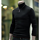 cheap Men's Sneakers-Men's Weekend Long Sleeve Wool Slim Pullover - Solid Colored Turtleneck