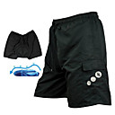 cheap Cycling Pants, Shorts, Tights-SANTIC Men's Cycling MTB Shorts - Black Solid Color Padded Shorts Bike Baggy Shorts MTB Shorts Bottoms, Breathable 3D Pad Quick Dry / Advanced Sewing Techniques