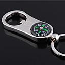 preiswerte Customized Schlüsselanhänger-Individuelle Gravur Geschenk Curve Compass Stil geformt Schlüsselbund