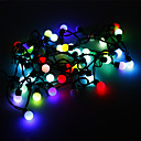 olcso LED gyertya izzók-5 m Fényfüzérek 50 LED RGB Színváltós 220 V