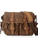 cheap Shoulder Bags-Unisex Bags Other Leather Type / Canvas Satchel for Casual Brown / Green / Khaki