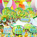 preiswerte Partyzubehör-Geburtstag Babyparty Party-Geschirr - Signalhörner Hüte Geschirr-Sets Hochwertiges Papier Garten