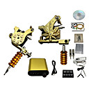 cheap Tattoo Transfers & Supplies-Tattoo Machine Professional Tattoo Kit - 2 pcs Tattoo Machines, Professional / High quality, formaldehyde free LCD power supply Case Not Included 2 cast iron machine liner & shader